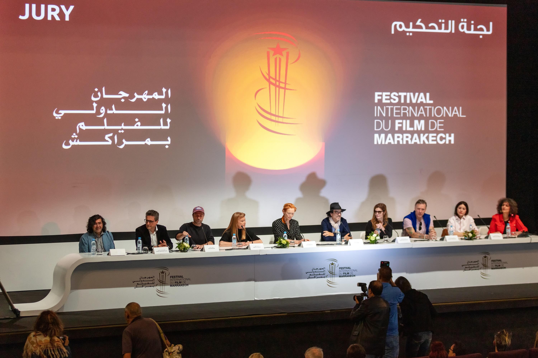 صورة لجنة حكم مهرجان مراكش الدولي للفيلم تعقد ندوتها الصحافية