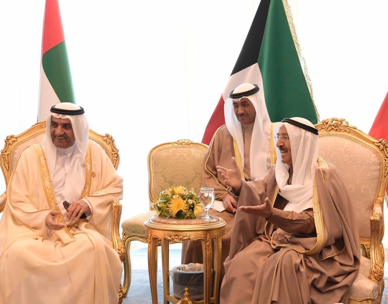 صورة لقاءات حاكم الفجيرة بملك البحرين وأمير الكويت