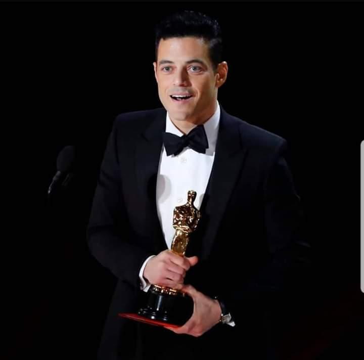 صورة رامي مالك العربي الأول الحاصل على جائزة التمثيل في تاريخ السينما والاوسكار