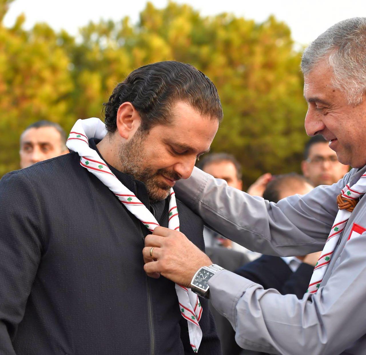 صورة الرئيس الحريري يختتم حفل المخيم الكشفي الوطني الاول لاتحاد كشافة لبنان