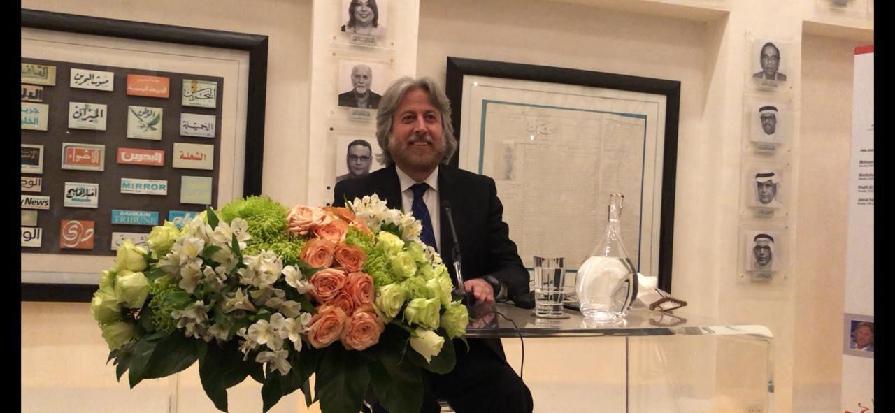 صورة جمال فياض يحاضر حول الصحافة والاعلام والميديا بمركز الشيخ ابراهيم بن محمد ال خليفة