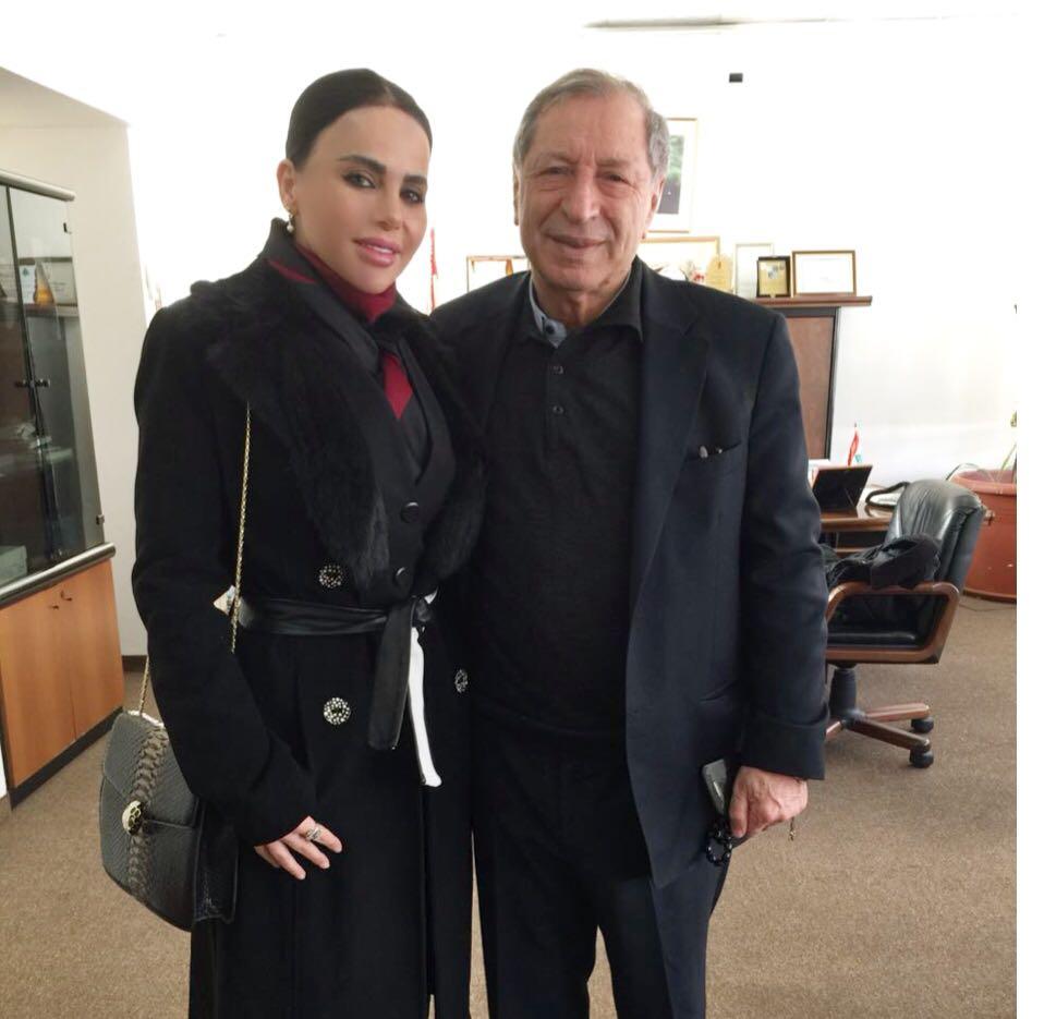 """صورة ليال عبود تقاضي """" ابو طلال """" وتلفزيون الجديد"""