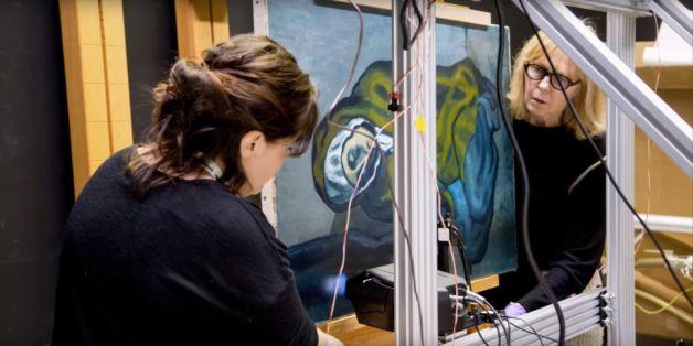 صورة الأشعة السينية تكشف عملاً فنياً متخفٍّ تحت لوحةٍ لبيكاسو..